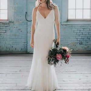 J. Crew Harper Beaded Mermaid Gown/Wedding Dress